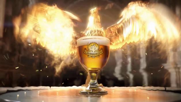 Grimbergen火凤凰飞啤酒广告