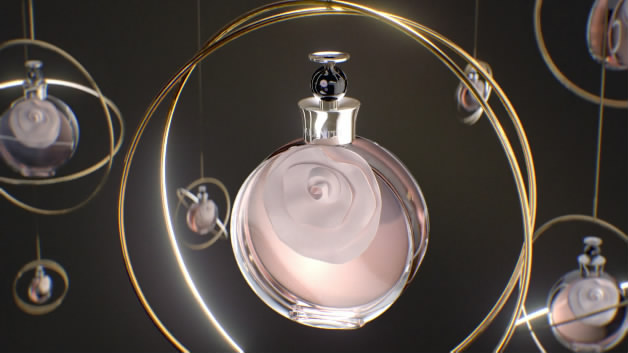 化妆品香水瓶子玻璃水晶三维玻璃