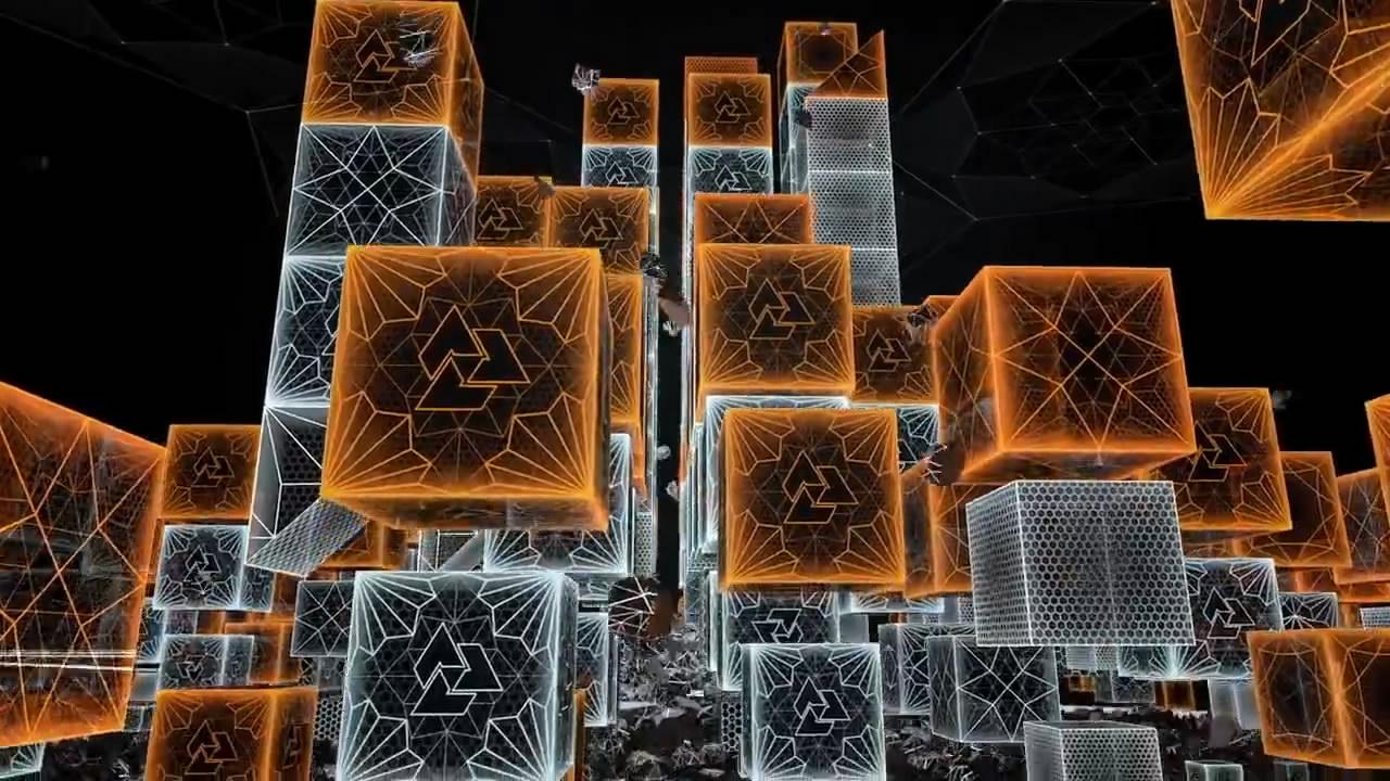 科技化地球线条plexue地球粒子柱状图人物粒子