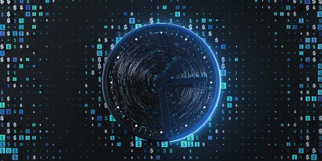 样片库|科技未来网格线条科技数据curl科技线