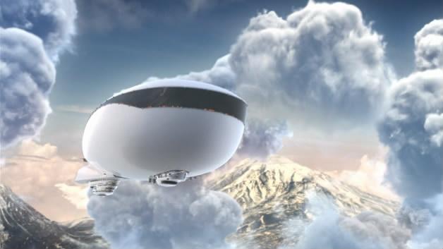 LOGO飞船云层飞船星云云层ID演绎