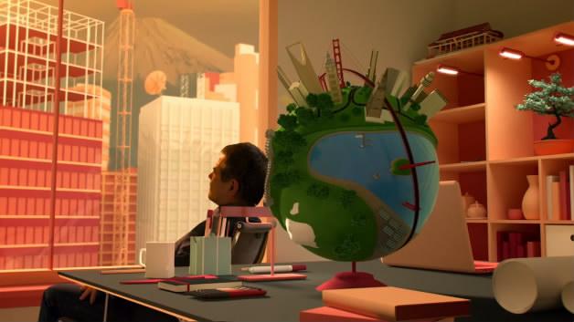 plusone|石油建筑公司三维动画能源健康医疗一镜到底