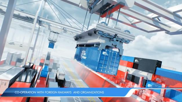 机械工业港口码头船舶吊机火车轮船运输集装箱