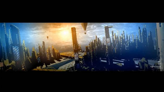 未来城市创意数字绘景科幻城市