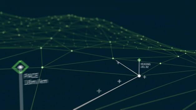 样片参考二维设计红色绿色科技线条优雅清新线条MG