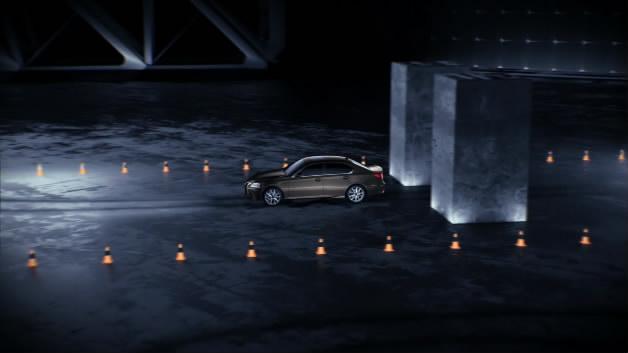 雷克萨斯汽车发布会大屏汽车测试汽车开场暗黑空间