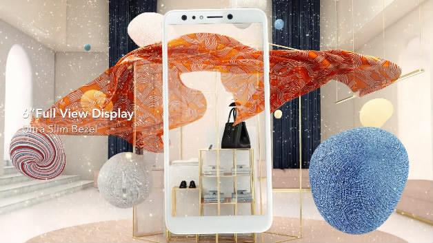 时尚动感高级白手机质感C4D风格三维广告