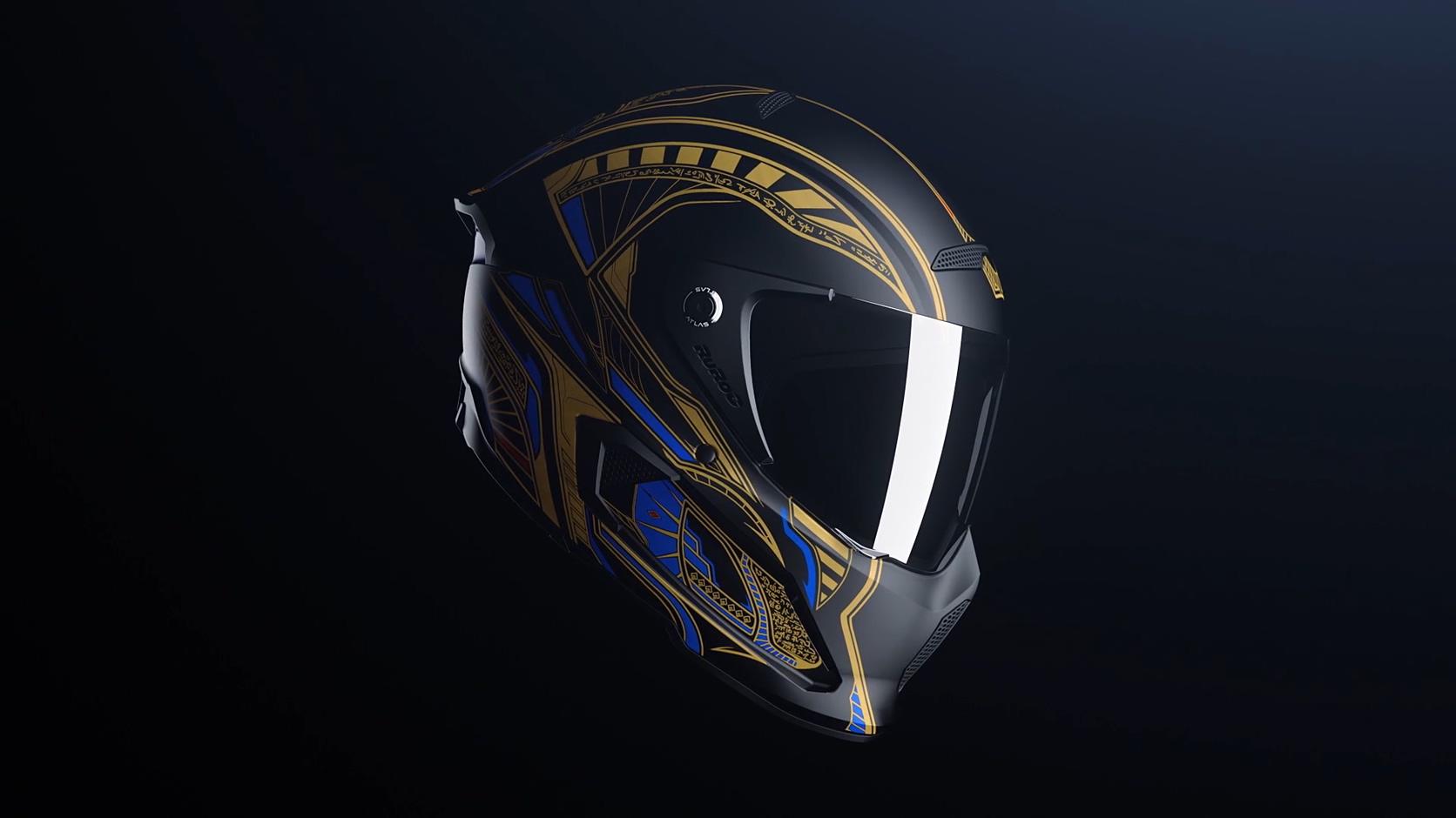 头盔三维高级暗黑科技产品气质质感