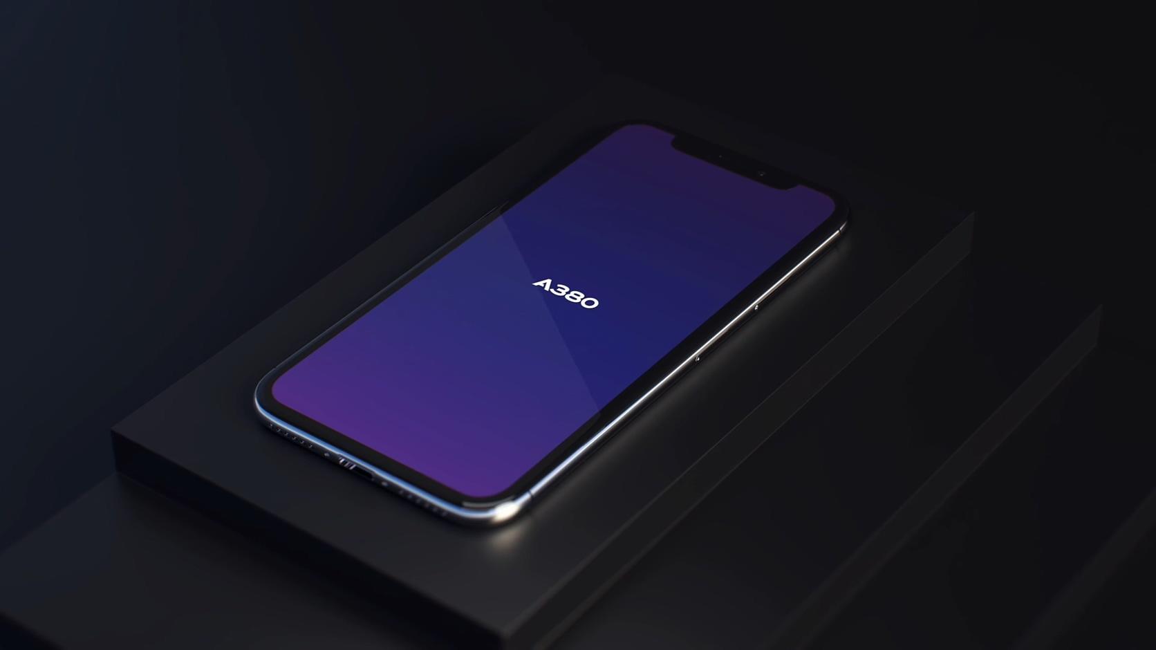 手机智能功能展示图标质感暗黑