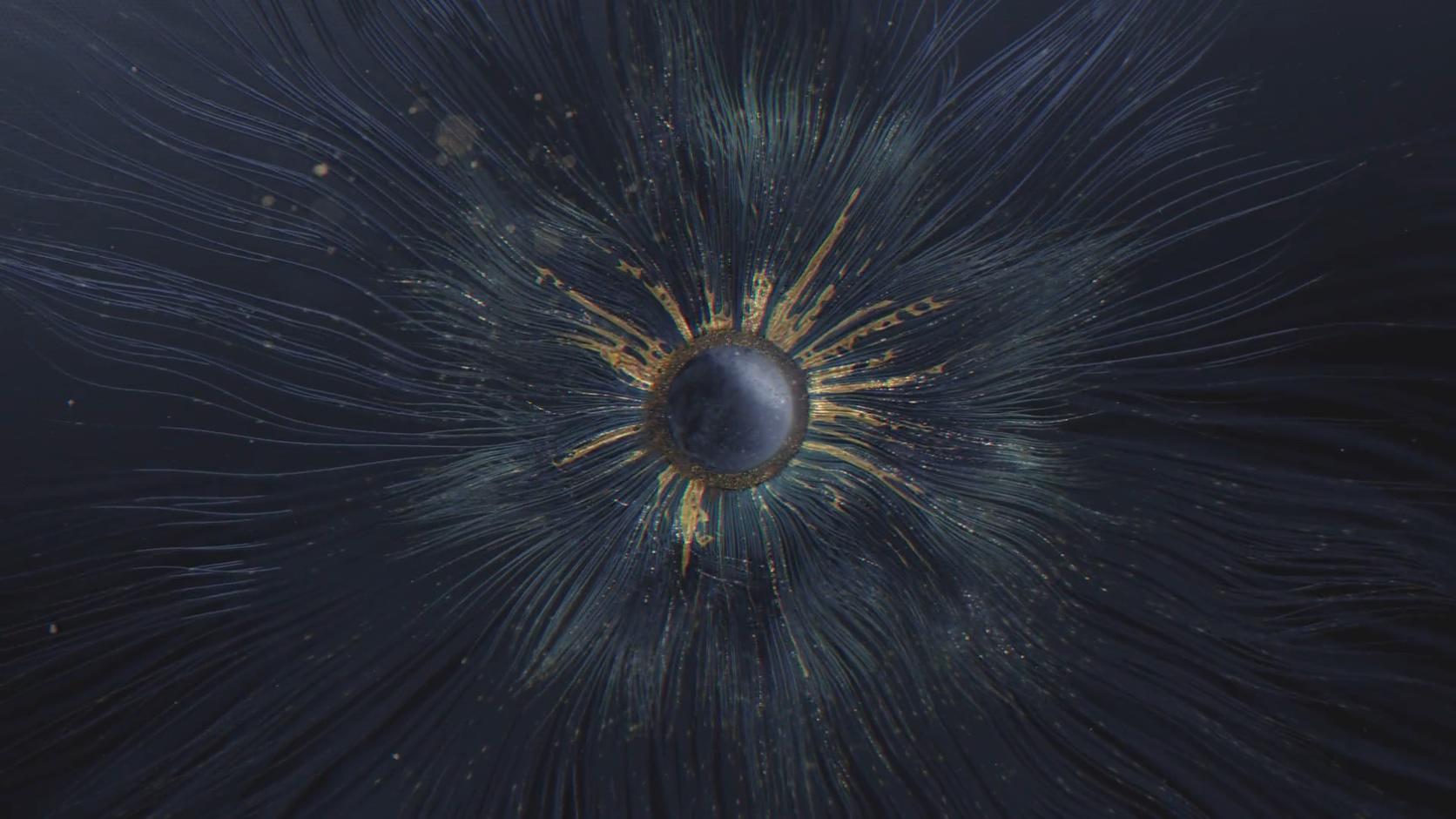天时纪录片创意片头球分形线条粒子中国风