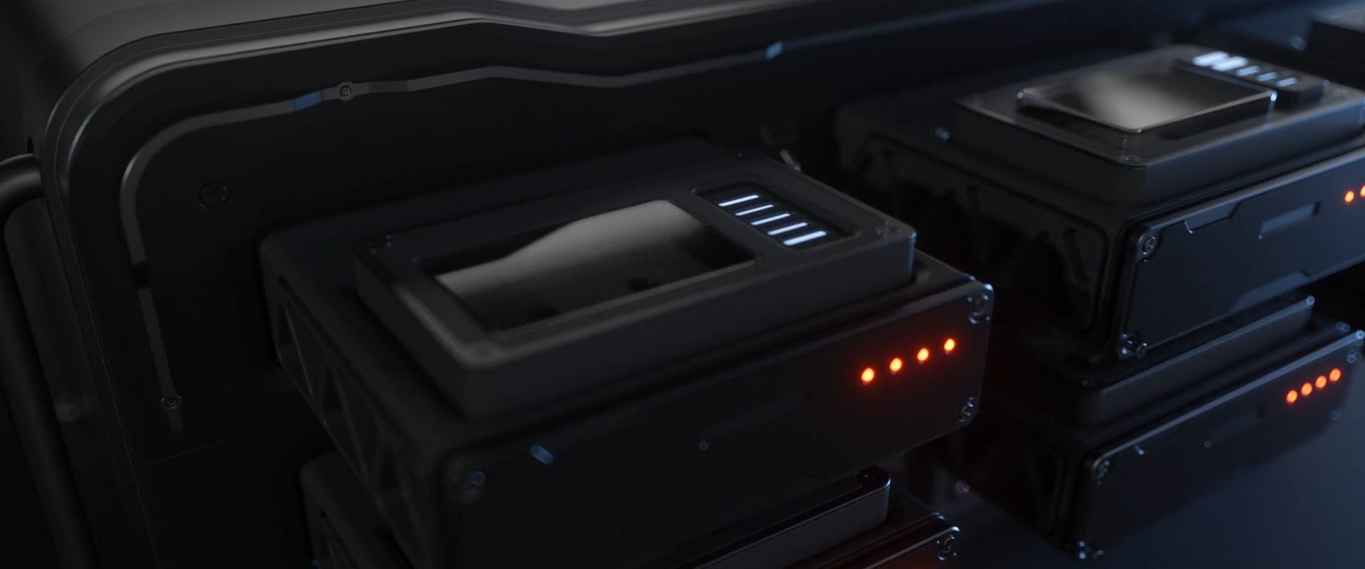 暗黑硬盘存储恢复科技灯管三维质感金属