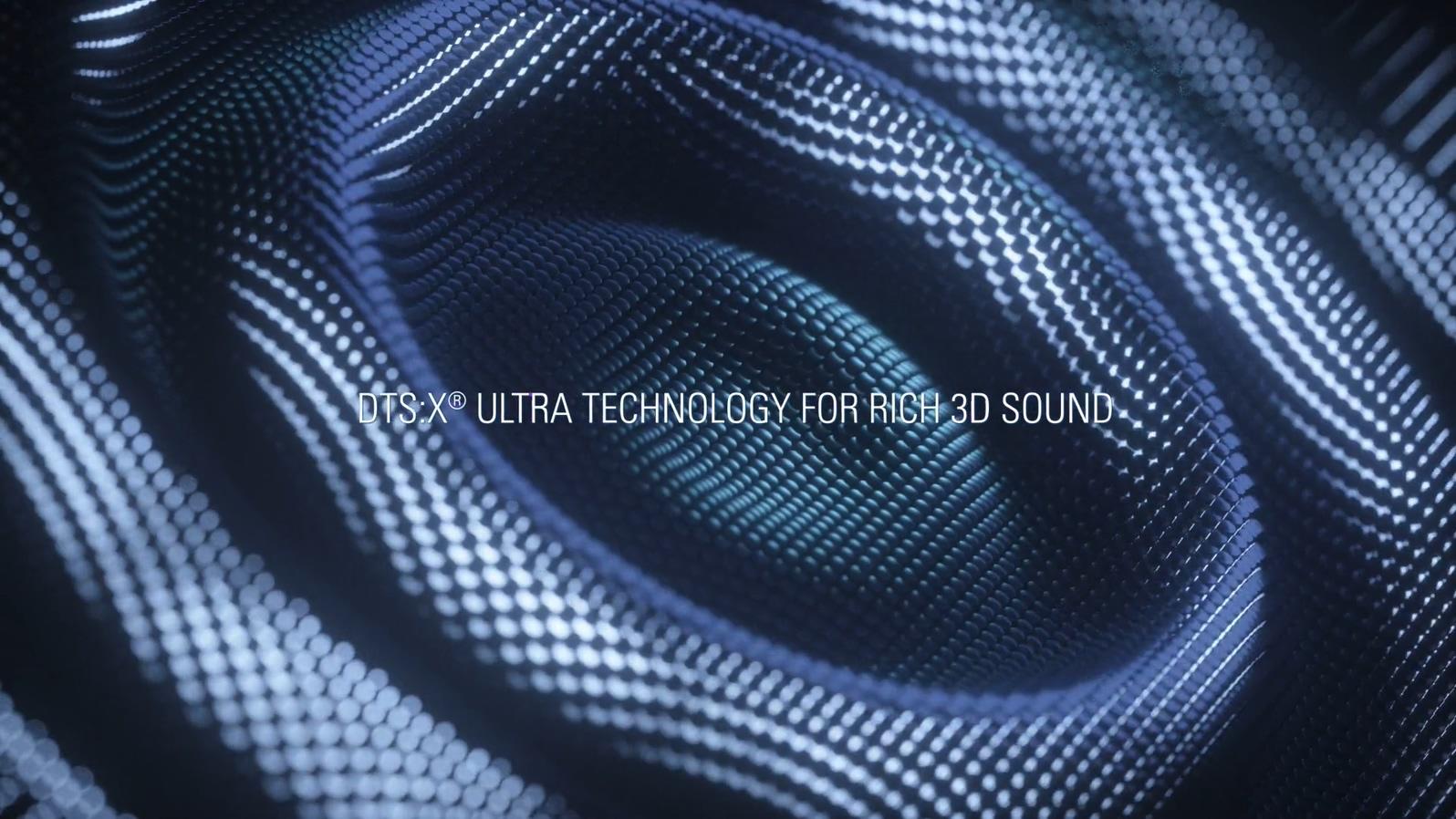 科技蓝暗黑手机动感时尚音波质感流光三维