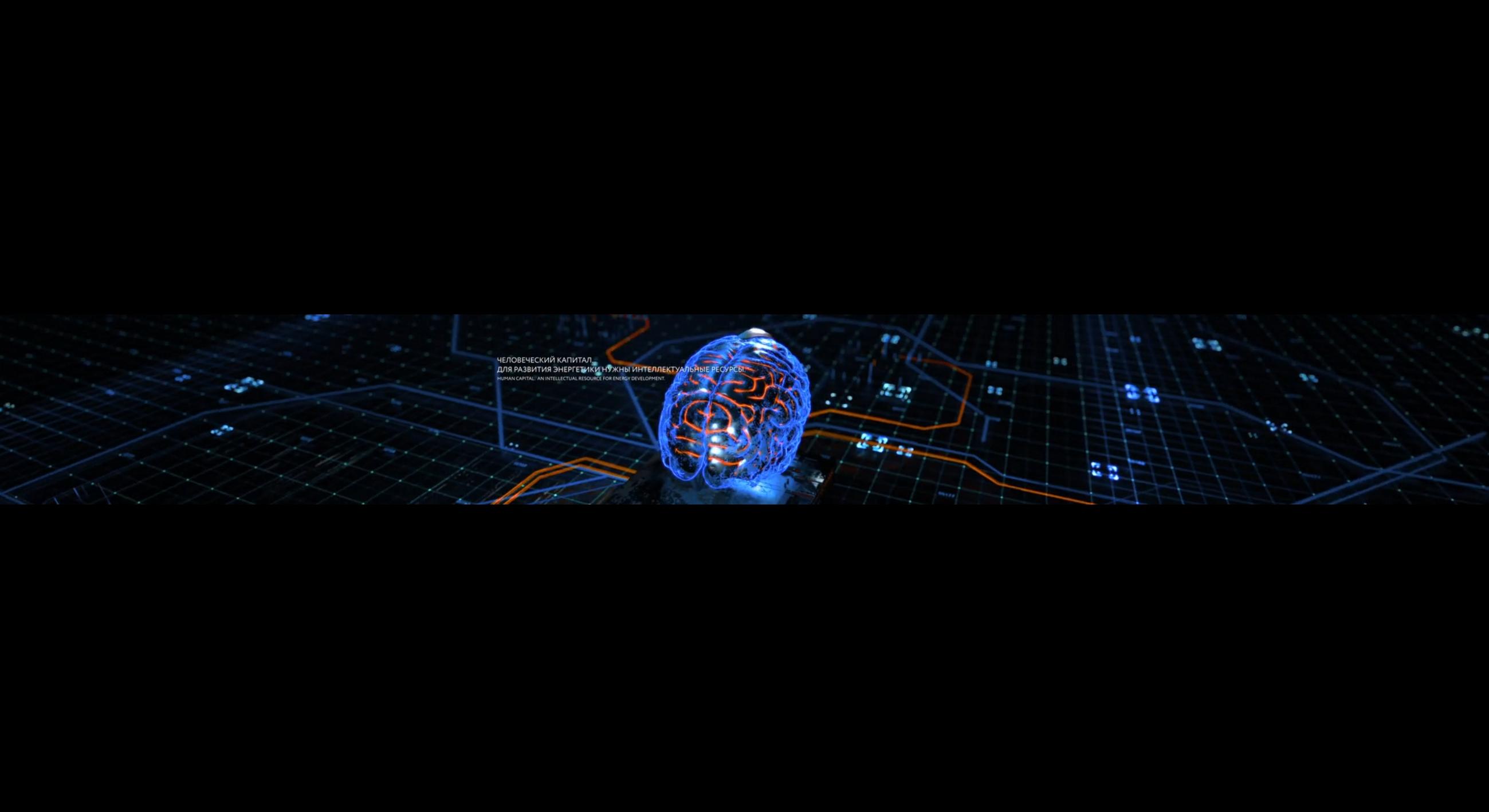 科技未来大屏开场线条AI智能未来全息