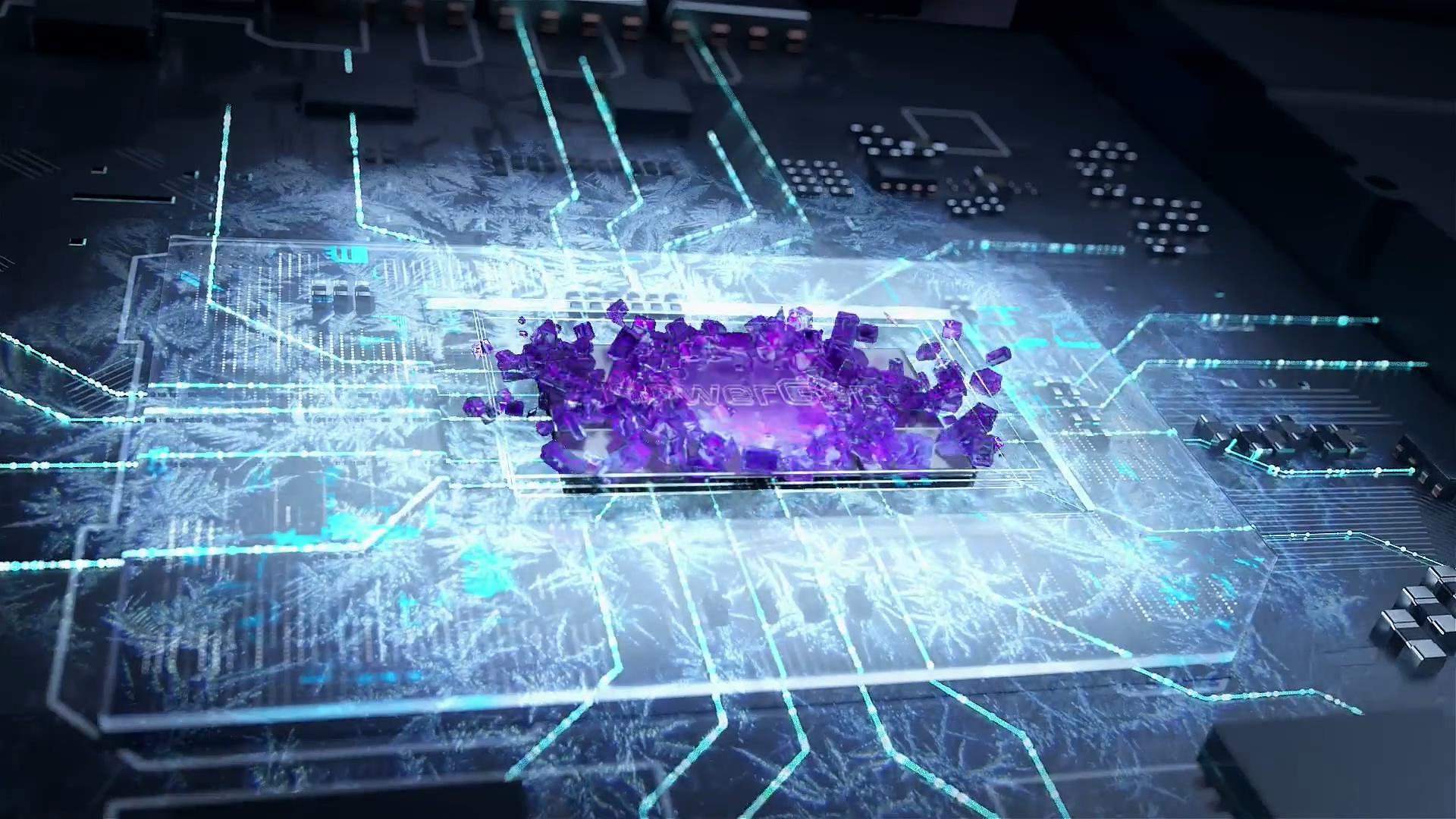 笔记本电脑三维产品质感芯片光线科技