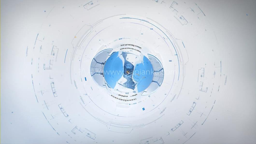 科技高级白工厂流程生产科技全三维动画演示镜头LOGO演绎科技