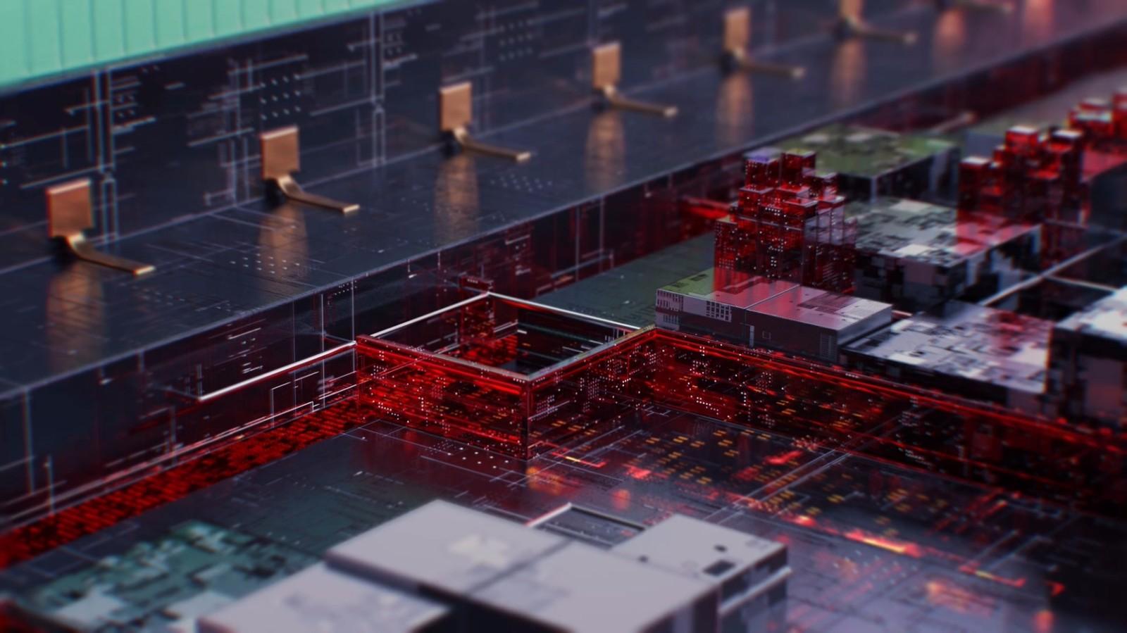 大数据科技线路BOX网格线红色OC风格