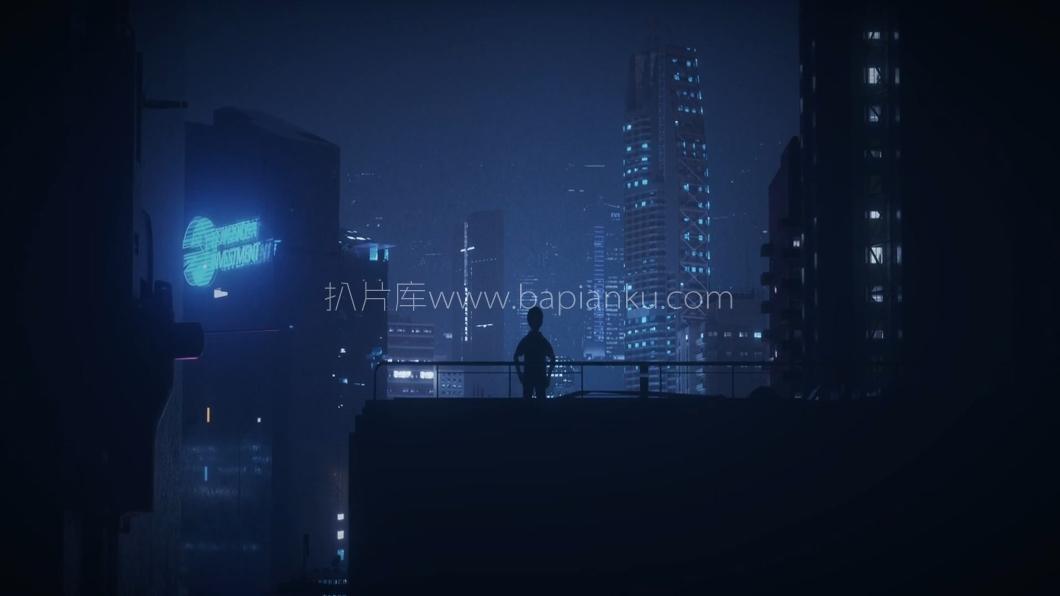 腾讯互联网分享大会开场暗黑OC夜景全息短片