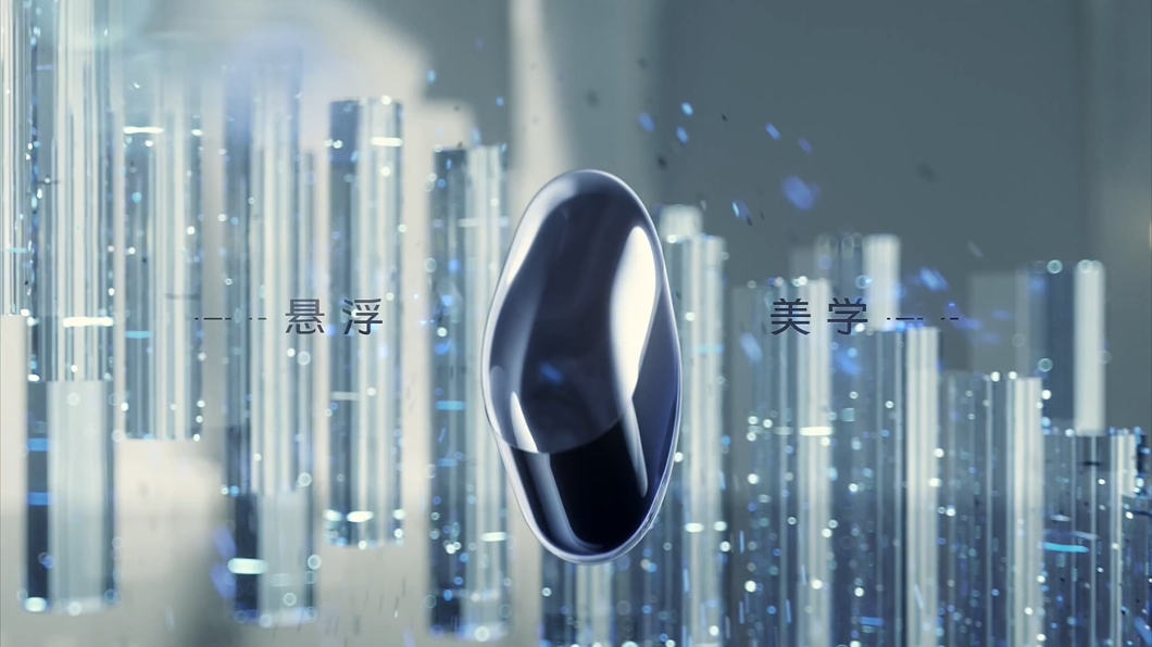 VIVO耳机粒子蓝科技白空间时尚动感视频人物