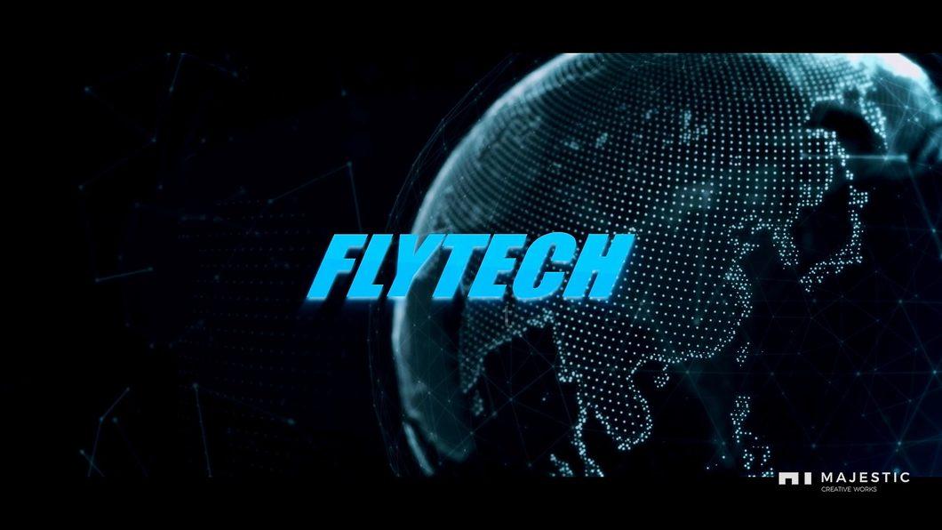科技公司宣传片实拍合成地球线条粒子图标指示