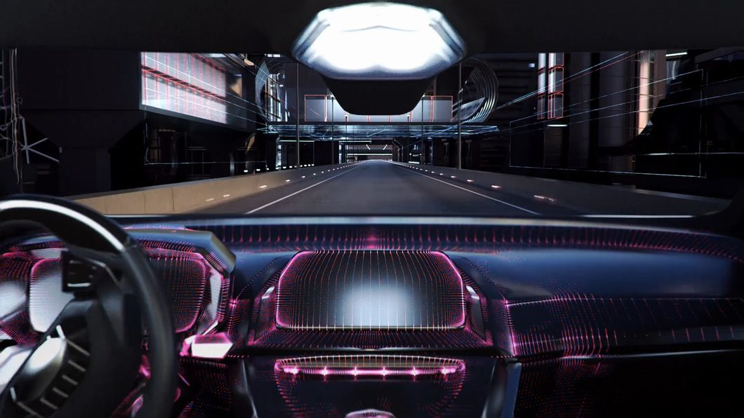 球空间场景科技汽车电视面板服务器暗黑线条光线抽象