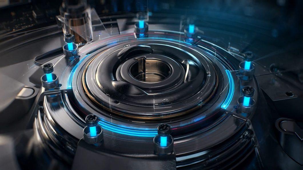 科技重工业机械声齿轮圆盘光线开启转盘