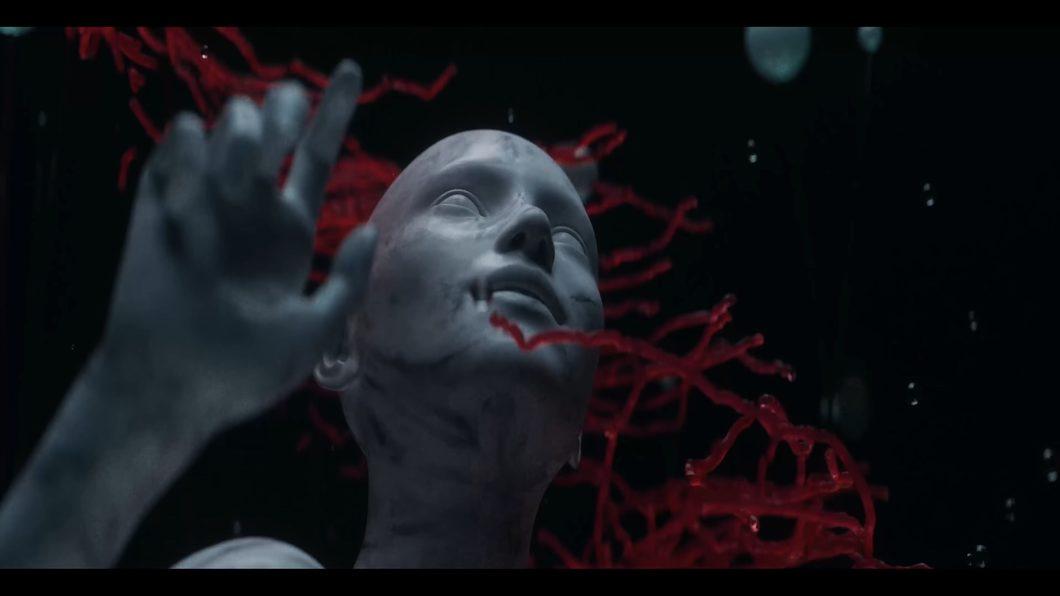 科技暗黑抽象人物水晶星球太空宇宙岩石水滴