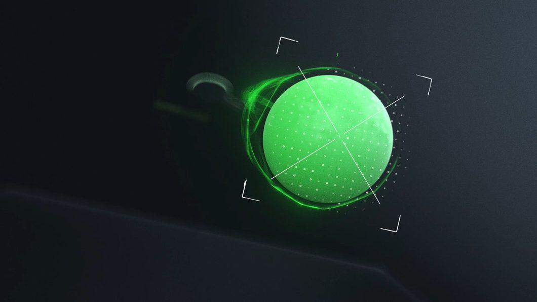 绿色光线暗黑科技绿质感三维